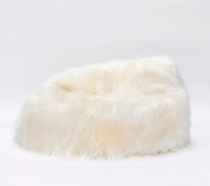 "Icelandic Sheepskin Bean Bag in Ivory, $699, [Sourceress the Store](https://sourceressthestore.com.au/collections/sheepskins/products/icelandic-sheepskin-bean-bag|target=""_blank"")"
