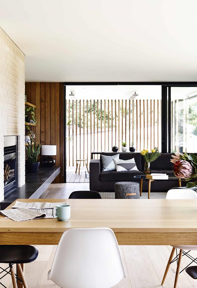 """She says it reminds her of """"the cool houses some of my friends had in Beaumaris growing up in the '70s"""". The [thermal mass](https://www.homestolove.com.au/what-to-consider-when-designing-a-sustainable-home-3861