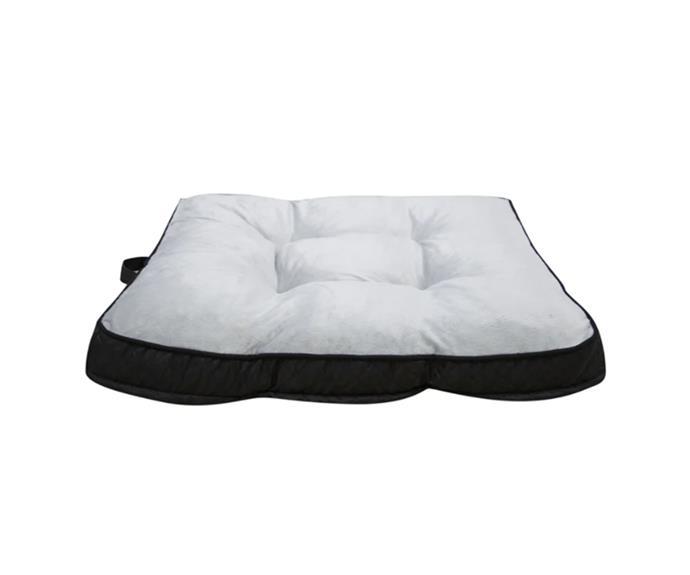 "Happy Tails Memory Foam pet bed, $70, [Bunnings](https://www.bunnings.com.au/happy-tails-88-x-78cm-memory-foam-pet-bed_p0087066|target=""_blank""|rel=""nofollow"")"