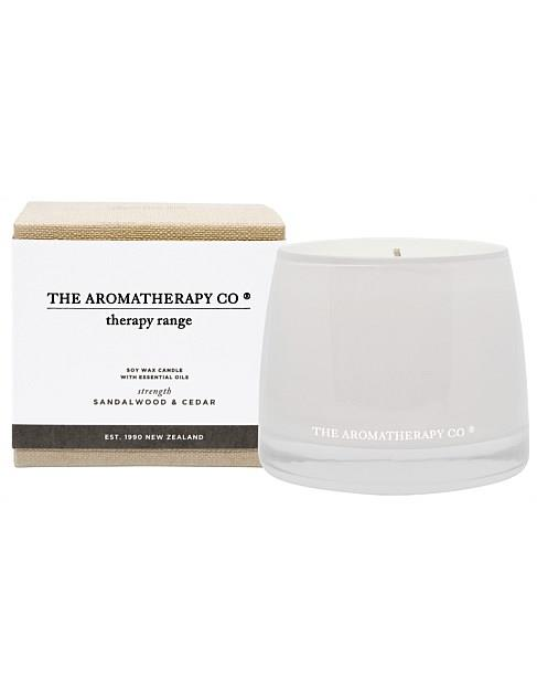 """The Aromatherapy Co. Sandalwood & Cedar candle, $34.95, [David Jones](https://www.davidjones.com/beauty/fragrance/candles-and-diffusers/22383896/Therapy-Candle-Strength---Sandalwood-And-Cedar.html