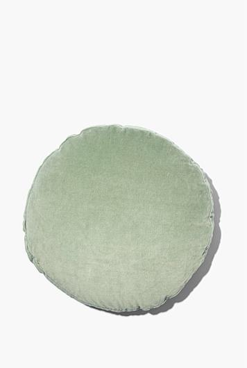 """Odos Round Cushion in Sage, $49.95, [Country Road](https://www.countryroad.com.au/shop/home/home-accessories/60240251/Odos-Round-Cushion.html