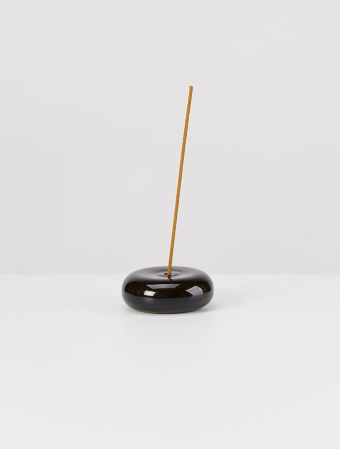 "MAISON BALZAC Pebble Incense Holder, $29, [My Chameleon](https://www.mychameleon.com.au/designer/maison-balzac/the-pebble-incense-holder-black-maison-balzac|target=""_blank""|rel=""nofollow"")"