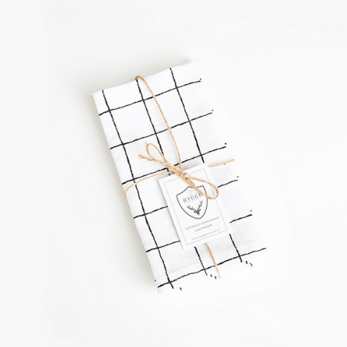 "My Hygge Home glam grid 100% French stonewashed linen napkins,  $29.99, [Living by Design](https://livingbydesign.net.au/products/my-hygge-home-glam-grid-french-stonewashed-linen-napkins-set-of-4?variant=31225069666417&currency=AUD&gclid=CjwKCAjw7-P1BRA2EiwAXoPWAyETVotTTtLhIMI1Ub8_ZGcWJTKUATnu0_12PvLvZ1DD5f3pltelWhoCuCIQAvD_BwE|target=""_blank""|rel=""nofollow"")"