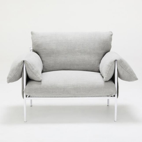 "Alva White (linen) chair, $1595, [Sarah Ellison](https://sarahellison.com.au/collections/the-new-wave/products/alva-lounge-chair-linen?variant=59778981515|target=""_blank""