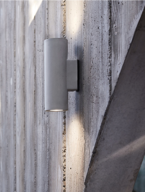 "MFL By Masson Tanimi GU10 Up/Down Wall Sconce in Concrete, $139, [Beacon Lighting](https://www.beaconlighting.com.au/mfl-by-masson-tanimi-gu10-up-down-wall-sconce-in-concrete|target=""_blank""