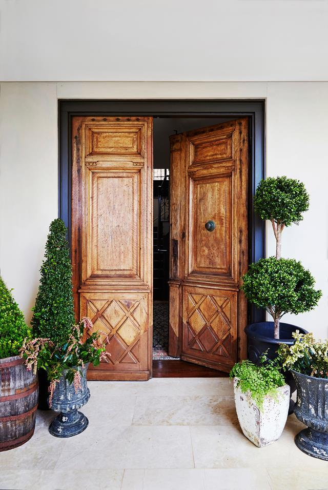 "The stunning antique doors, imported from Spain, make a bold style statement in this [French-provincial paradise in Sydney](https://www.homestolove.com.au/french-provincial-home-in-sydney-5418|target=""_blank""