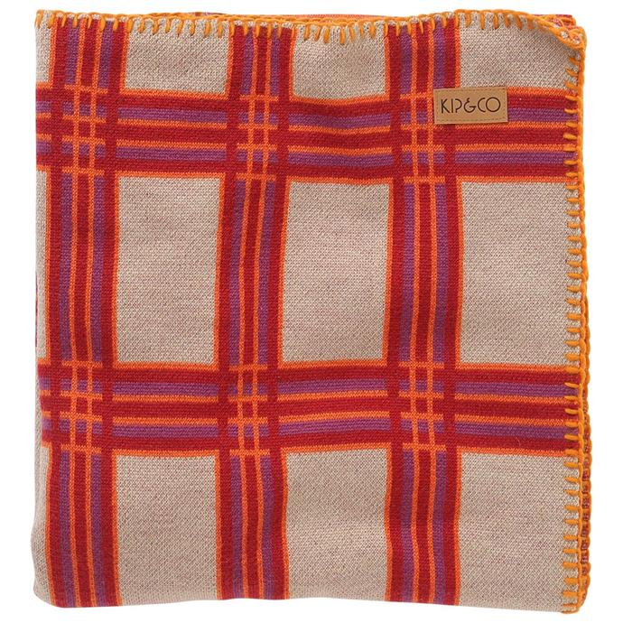 "Tartan Boysenberry wool blanket, $249, [Kip & Co](https://kipandco.com.au/collections/blankets-throws/products/tartan-boysenberry-wool-blanket|target=""_blank""|rel=""nofollow"")."