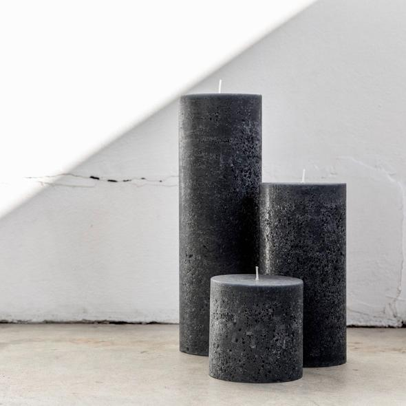 "Grey Textured Candle Trio, $95, [Candle Kiosk](https://www.candlekiosk.com.au/collections/textured-candles/products/charcoal-textured-candle-trio|target=""_blank""