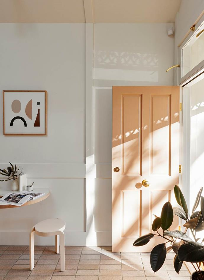"A fresh apricot lick of paint gave this [1870s cottage in Melbourne](https://www.homestolove.com.au/josh-and-jenna-denstens-cottage-renovation-5974|target=""_blank"") new life, revived by celebrity renovators Josh and Jenna Denste."