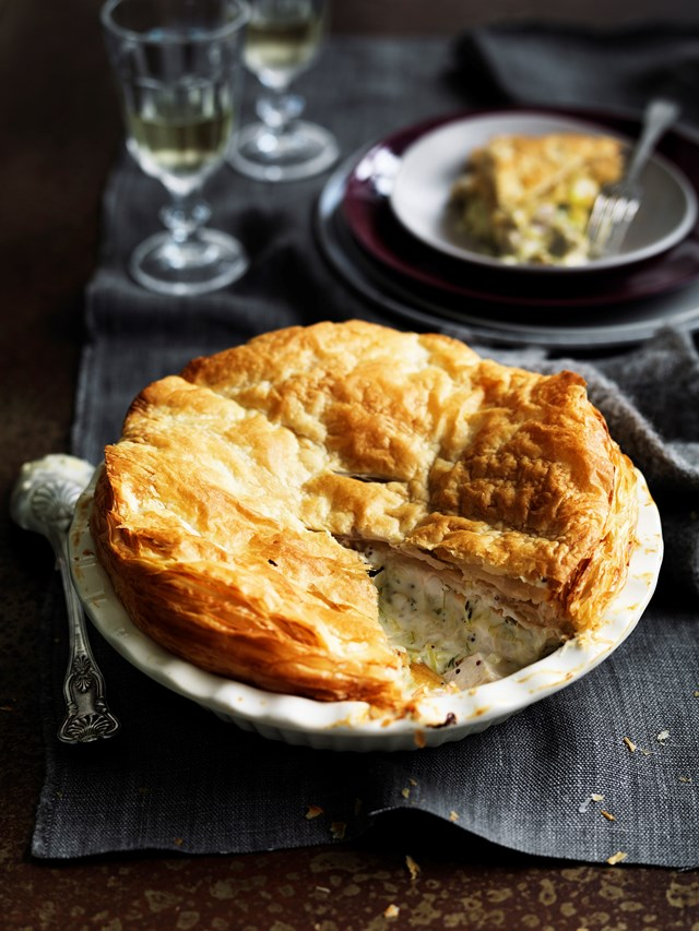"**[A CLASSIC COUNTRY CHICKEN PIE](https://www.homestolove.com.au/country-chicken-pie-7882|target=""_blank"")**<br> <br>From the buttery, flakey pastry to the creamy chicken and vegetable filling, this chicken pie makes the perfect winter lunch or dinner and is guaranteed to please even the fussiest of eaters."