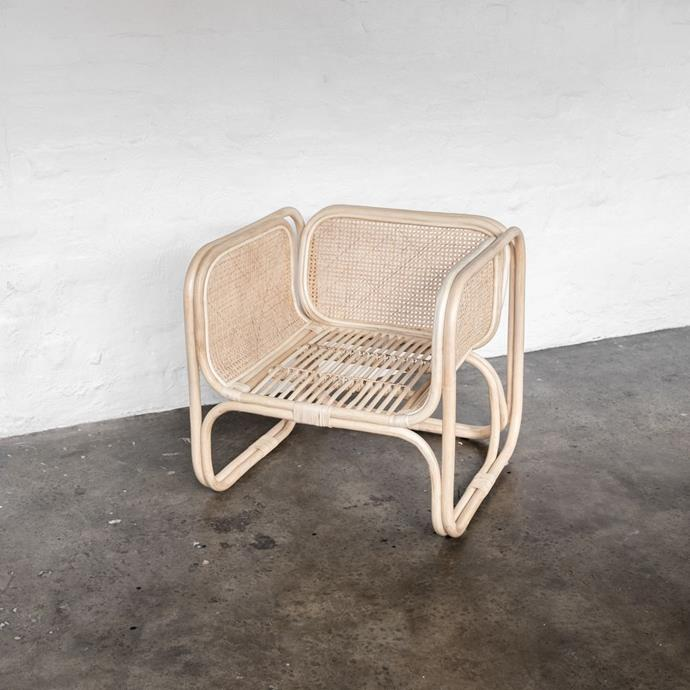 """Wilbur Cane Chair in Blonde, $699, [McMullin & Co.](https://www.mcmullinandco.com/wilbur-cane-chair-blonde