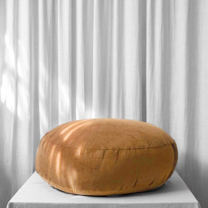 """Lewis Pouf in Rust, $299, [McMullin & Co.](https://www.mcmullinandco.com/lewis-pouf-rust