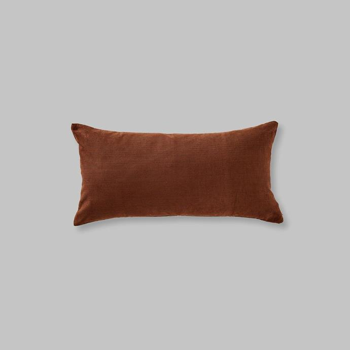 """Organic cotton cushion in Cocoa, $80, [In Bed](https://inbedstore.com/collections/cushions/products/organic-cotton-cushion-in-cocoa-rectangle