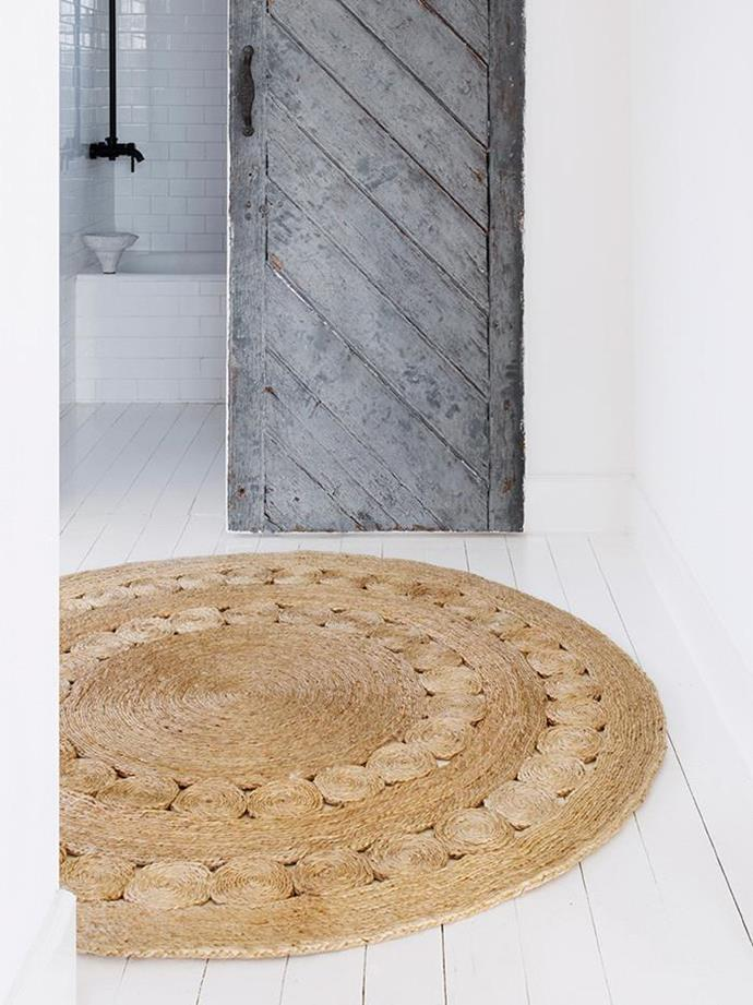 """Armadillo & Co. Natural Dandelion Flower Floor Rug, $850, [Curious Grace](https://curiousgrace.com.au/collections/armadillo-floor-rugs-for-home-interiors-and-outdoor/products/natural-dandelion-flower-armadillo-floor-rug