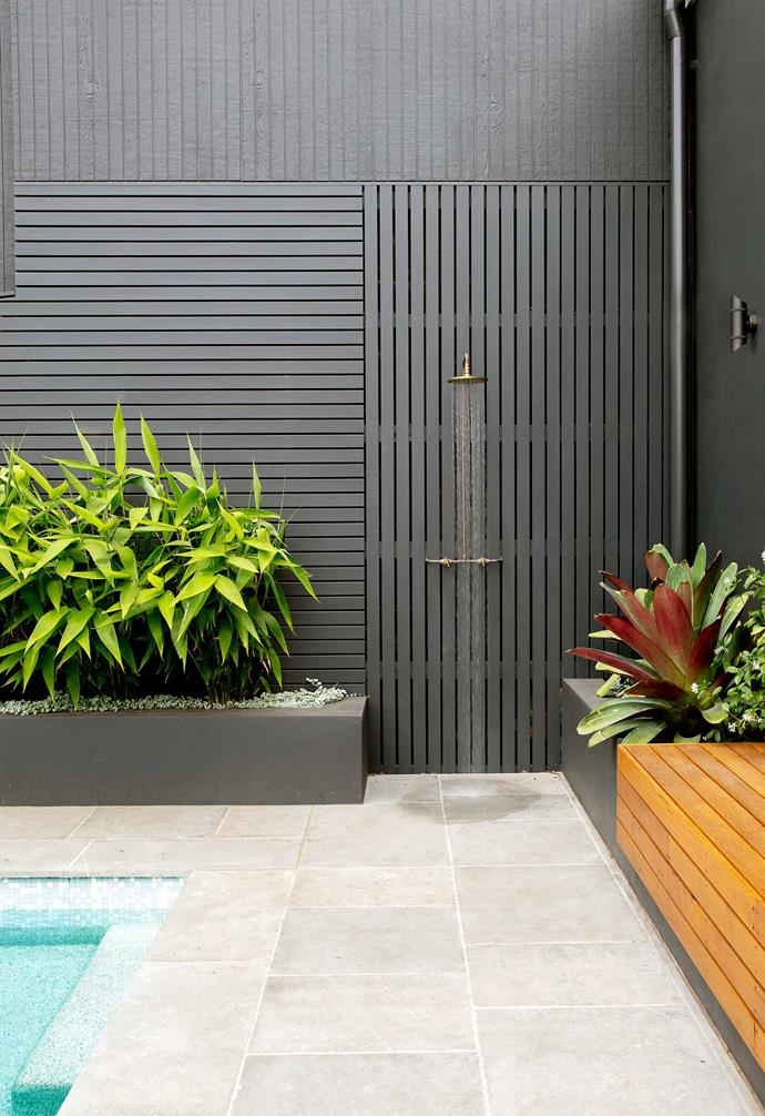 "**Outdoor area** ""The kids were in it all summer,"" says Alison. It's finished with smooth, anti-slip Beadcrete in a colour called Shell Taumesina and the tiles are mosaics from [Bisazza](https://www.bisazza-australia.com.au/