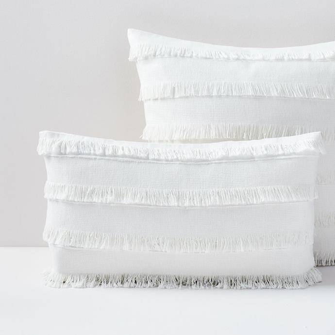 "Fringe Cushion Covers, $59, [West Elm](https://www.westelm.com.au/fringe-pillow-covers-t4757|target=""_blank""|rel=""nofollow"")"
