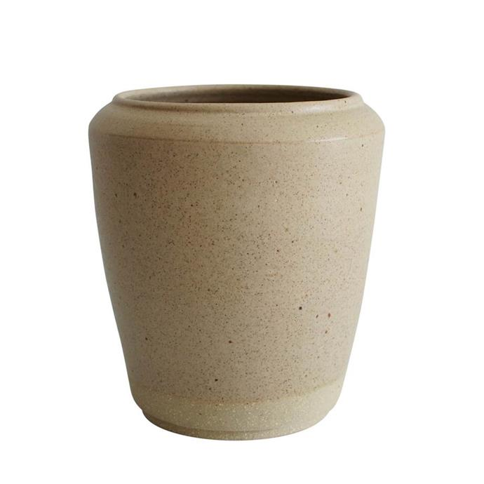 """Stoneware vase, $130, [Wingnut and Co.](https://wingnutand.co/collections/for-flowers-arranging