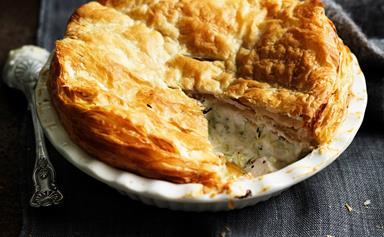 A classic country chicken pie recipe
