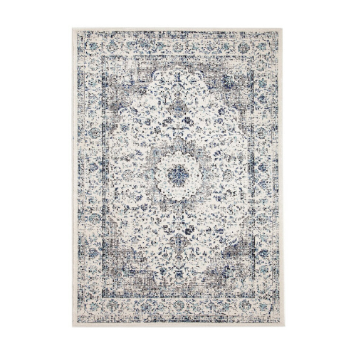 """Nuuk ivory & blue distressed transitional rug, from $229, [Miss Amara](https://missamara.com.au/products/nuuk-ivory-blue-distressed-transitional-rug