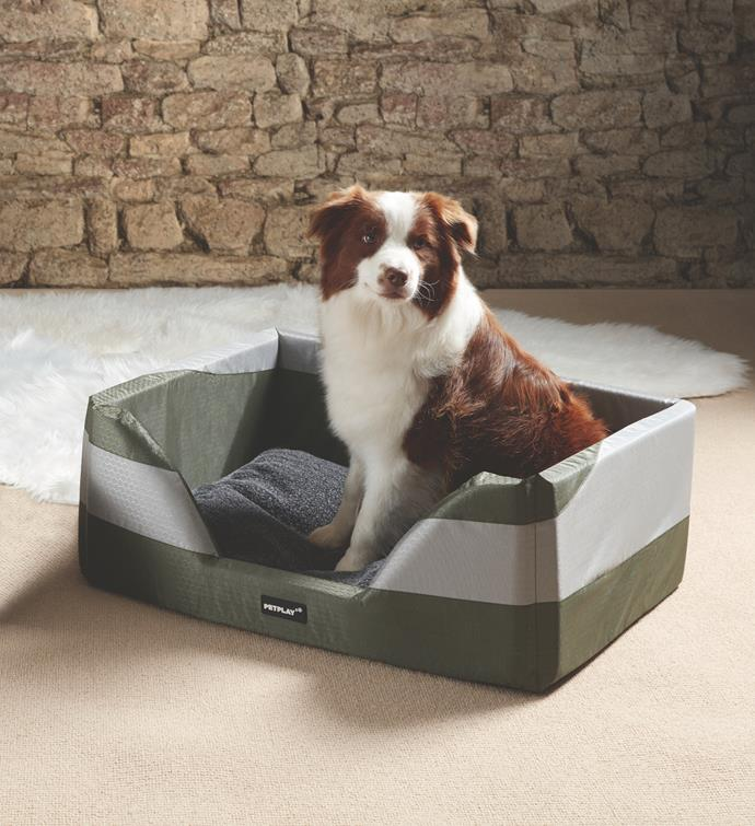 Dog Bed with Heating Mat, $39.99.