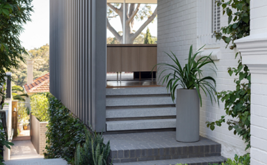 A simple low-maintenance garden that reflects its home's architecture