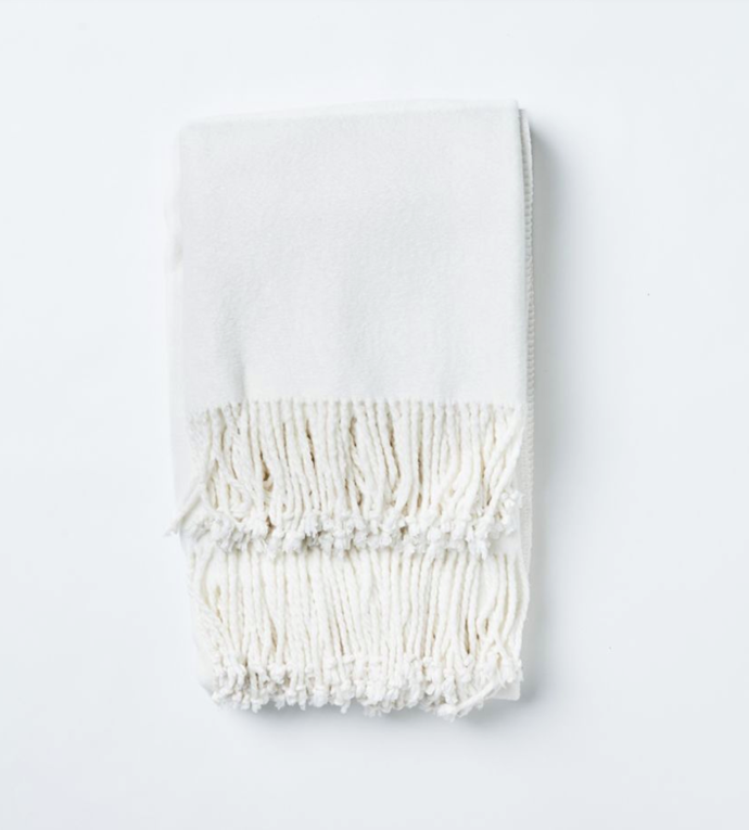 "Romano Bamboo Throw, White, $189, [Papaya](https://www.papaya.com.au/catalog/product/view/id/3781/s/romano-bamboo-throw-white/|target=""_blank""