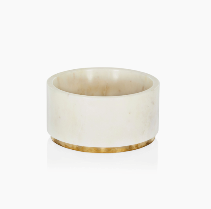 "Ralph Bowl - Marble, $155, [Coco Republic](https://www.cocorepublic.com.au/ralph-dog-bowl-grey-10637|target=""_blank""