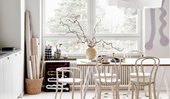 An artist's light-filled apartment in an old school building