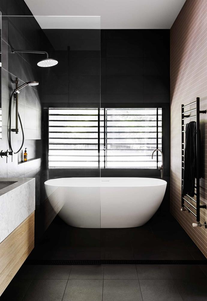 "**Ensuite** Large-format Berlin Night tiles from [Signorino](https://www.signorino.com.au/|target=""_blank""