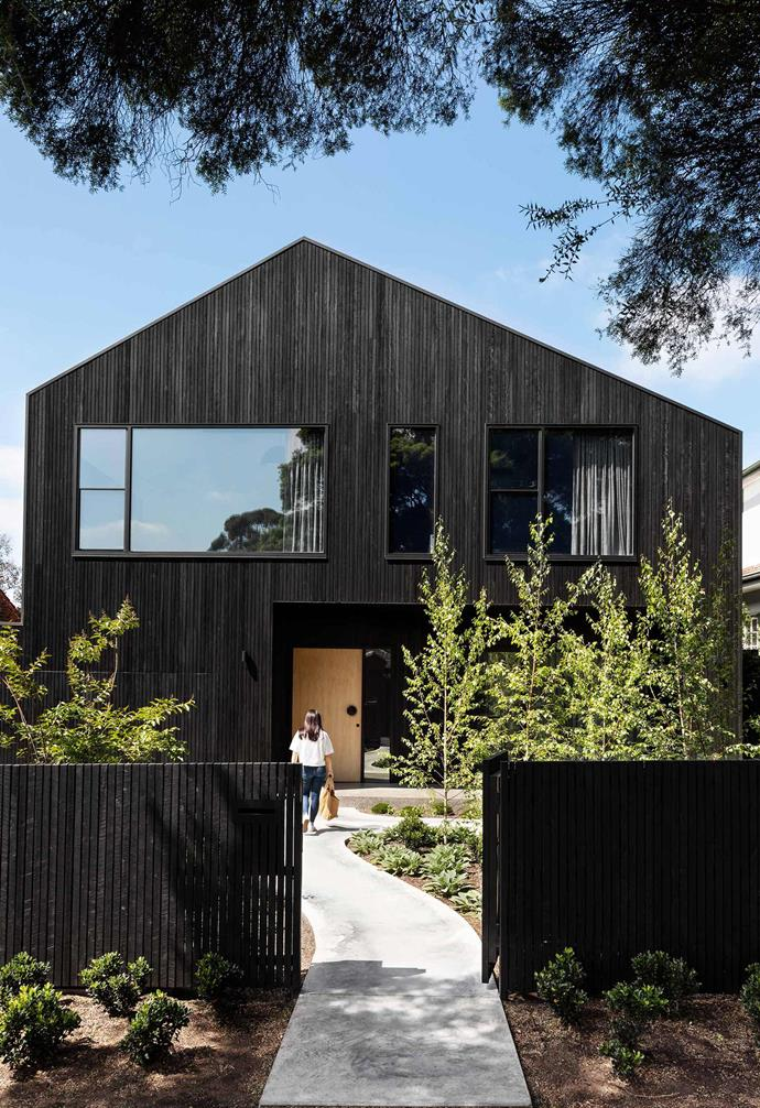 "**Exterior** Charred shiplap timber cladding from [Eco Timber Group](https://www.ecotimbergroup.com.au/|target=""_blank""