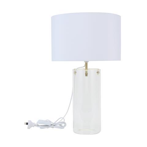 "Glass Base Lamp, $25, [Kmart](https://www.kmart.com.au/product/glass-base-lamp/2496348|target=""_blank""|rel=""nofollow"")"