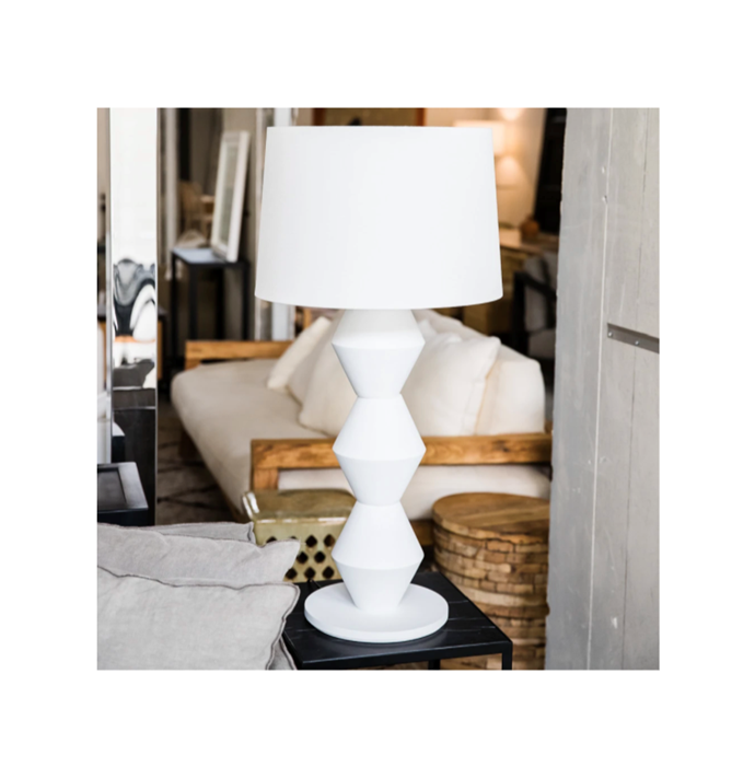 """CUZZI III in white, $550, [MCM House](https://www.mcmhouse.com/collections/table-lamps/products/cuzzi-3-lamp