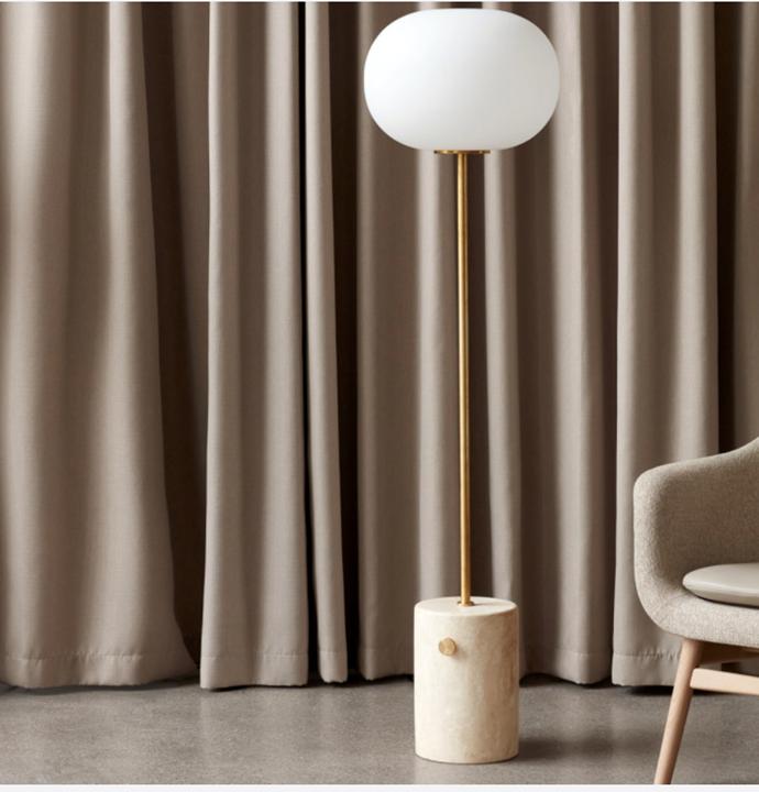 "MENU JWDA Floor Lamp Brushed Brass, Pre-Order $3,850, [Design Stuff](https://www.designstuff.com.au/menu-jwda-floor-lamp-brushed-brass/|target=""_blank""|rel=""nofollow"")"