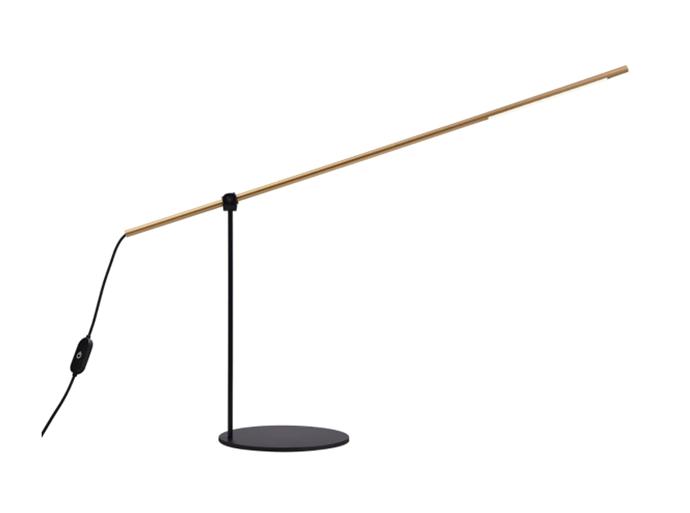 "LEDlux Stem 6W LED Table Lamp in Black/Gold, $63.96, [Beacon Lighting](https://www.beaconlighting.com.au/ledlux-stem-6w-led-table-lamp-in-black-gold|target=""_blank""|rel=""nofollow"")"