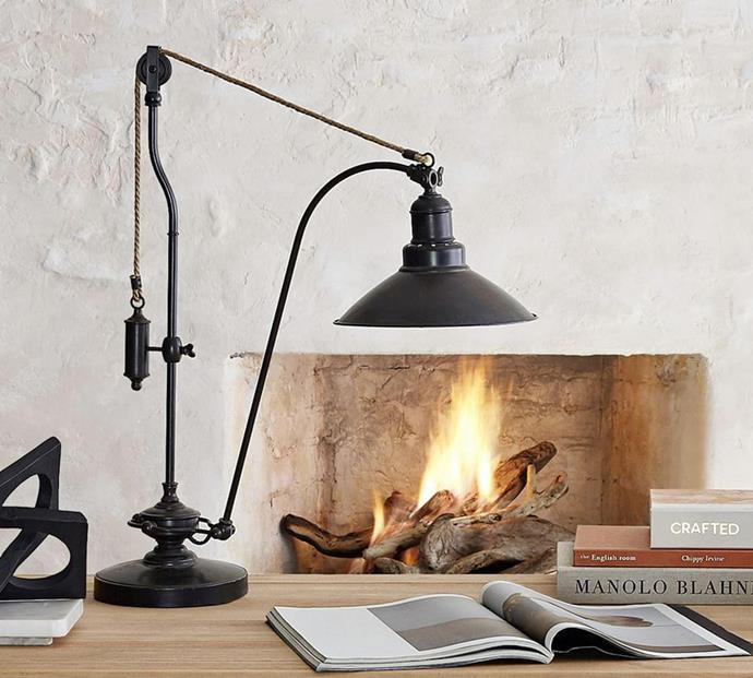"""Glendale Pulley Task Table Lamp, $324, [Pottery Barn](https://www.potterybarn.com.au/glendale-pulley-task-table-lamp