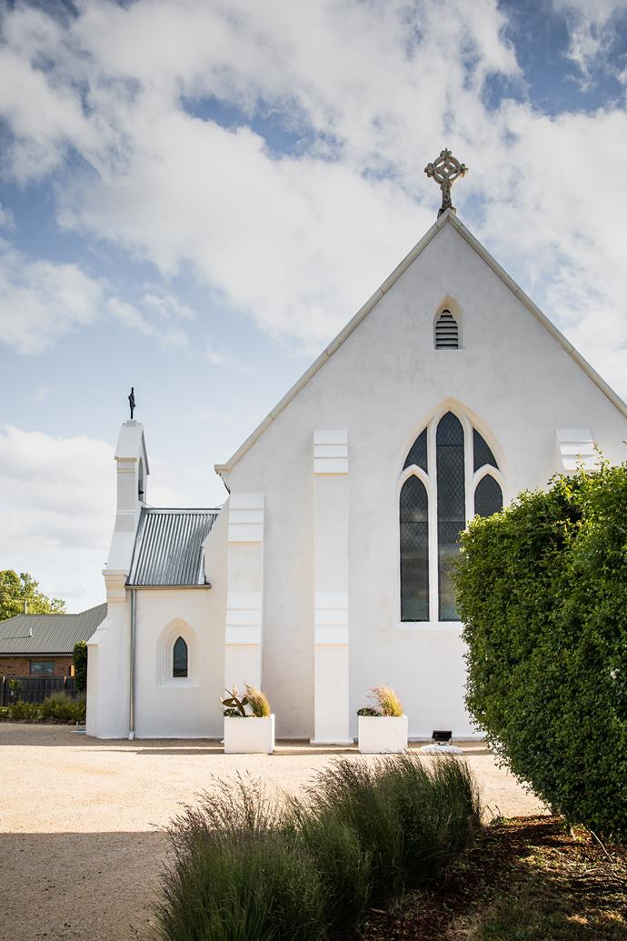 """An 18-month renovation transformed the former [St Andrew's Church in Perth, TAS](https://www.homestolove.com.au/church-renovation-tasmania-21435