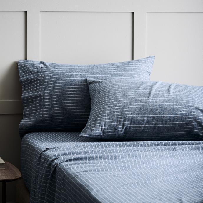 "'Pascoe' Flannelette Sheet Set in Smokey Blue, $399.99, [Sheridan](https://www.sheridan.com.au/pascoe-flannelette-sheet-set-s6yy-b190-c233-723-smokey-blue.html|target=""_blank""|rel=""nofollow"")"