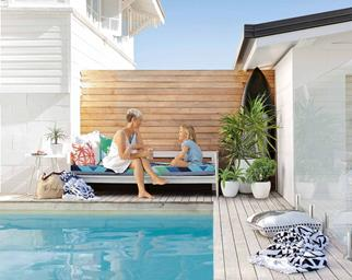 pool deck beach house