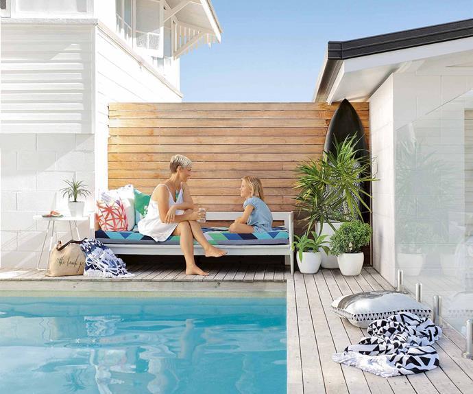 pool deck beach house