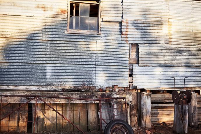 The shearing shed.