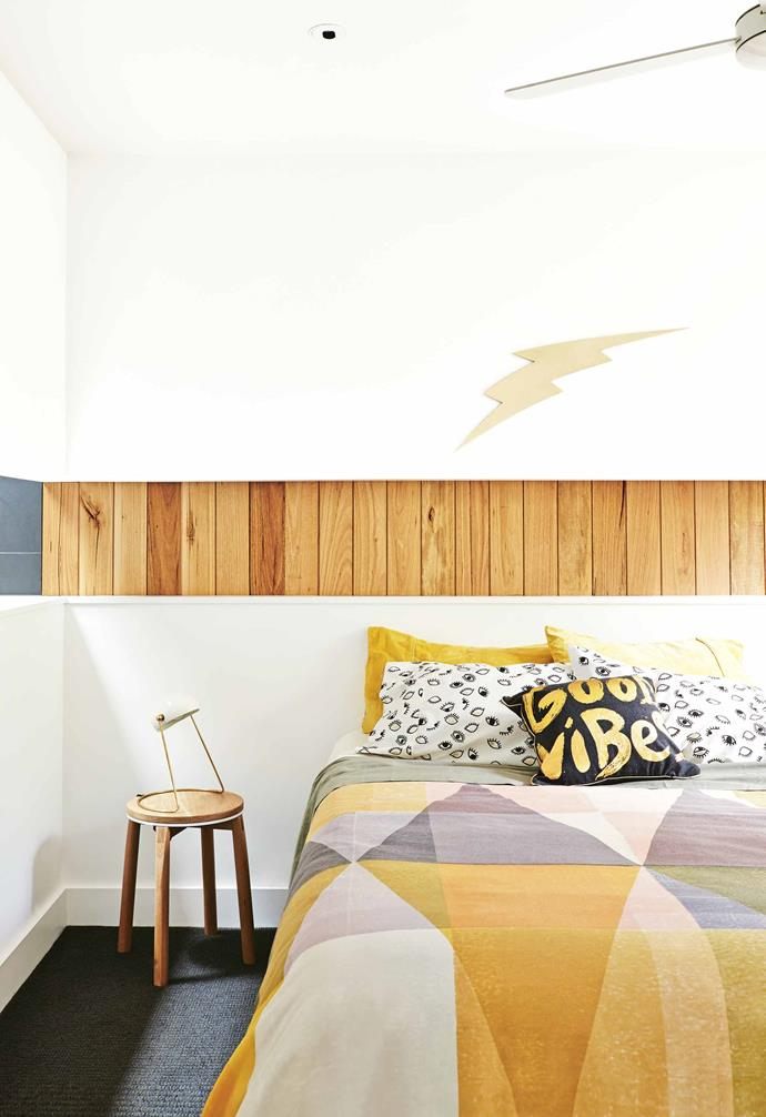 """**Topsy turvy** With such a tight site, James decided to turn the house upside down devoting the upper level to an [open-plan living, dining and kitchen area](https://www.homestolove.com.au/20-best-open-plan-living-designs-17877