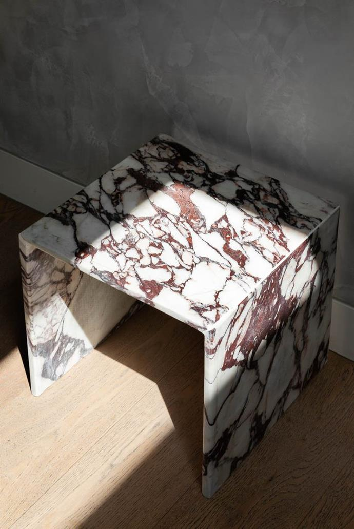 """Viola side table, $950, [Just Adele](https://www.justadele.com.au/collections/tables/products/viola