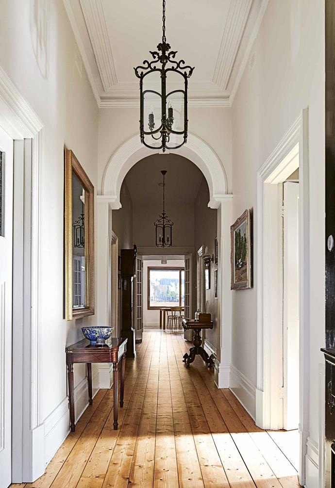 "**Hallway** By focusing on the connection between the two parts of the home, the problem of matching a heritage home with a new extension has been cleverly solved. ""There's a point where the period details end and the new materials take centre stage,"" says Melissa."