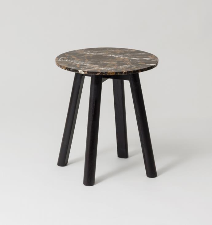 "MIDDLE OF NOWHERE Enkel Marble Side Table - Deep Umber, $439, [RJ Living](https://www.rjliving.com.au/enkel-marble-side-table-deep-umber|target=""_blank""|rel=""nofollow"")"