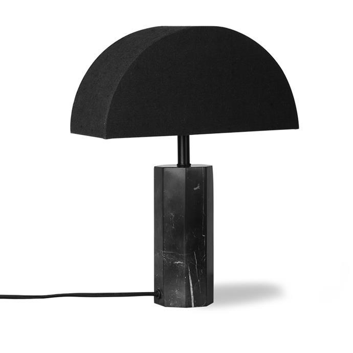 "HK LIVING Hexagon Table Lamp - Black Marble, $318, [RJ Living](https://www.rjliving.com.au/buy-hexagon-table-lamp-black-marble.html|target=""_blank""|rel=""nofollow"")"
