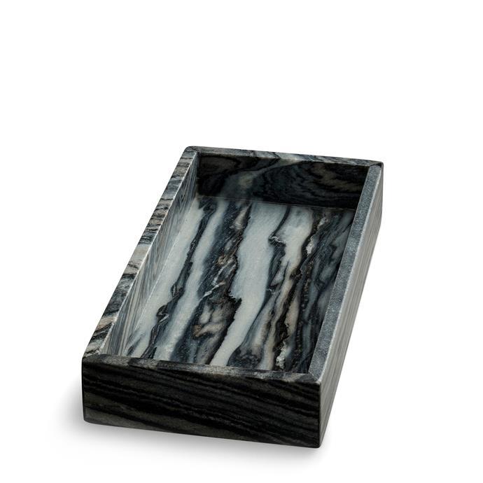 "NORDSTJERNE Grey Rectangular Marble Tray, $99, [Nordic Rooms](https://www.nordicrooms.com.au/grey-rectangular-marble-tray|target=""_blank""|rel=""nofollow"")"