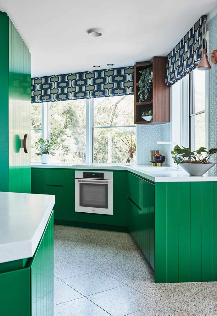 """**Kitchen** Mottled Italian terrazzo tiles from [Surface Gallery](https://surfacegallery.com.au/