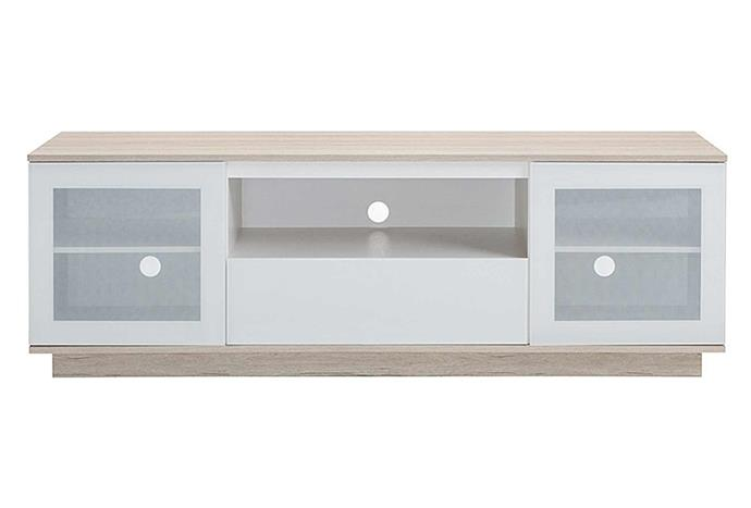"""Glass-fronted cabinets on your TV console can take your living room style to the next level. Tauris Ava Entertainment Unit, $839, [Zanui](https://www.zanui.com.au/Ava-Entertainment-Unit-167080.html