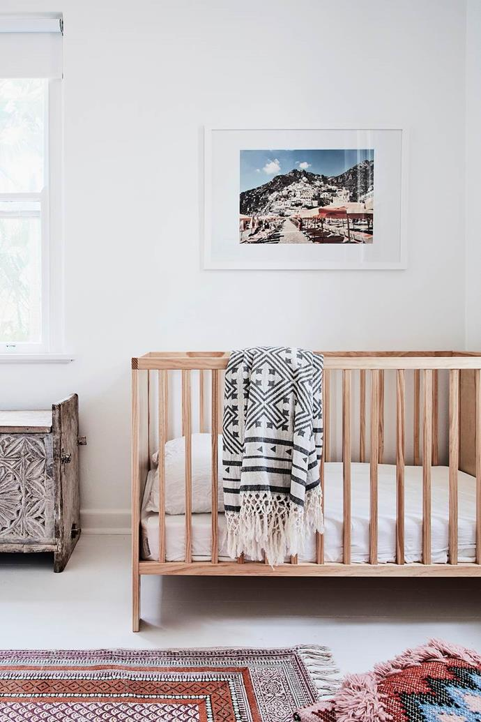 "Baby Saskia's room evokes peaceful, relaxed vibes in a neglected holiday home that has been [transformed into a rustic coastal haven](https://www.homestolove.com.au/rustic-coastal-style-home-19795|target=""_blank"")."