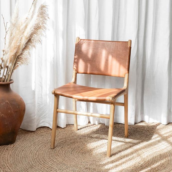 "Boris Dining Chair, $599, [McMullin & Co.](https://www.mcmullinandco.com/boris-dining-chair|target=""_blank""|rel=""nofollow"")"